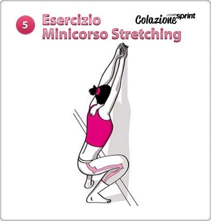 stretching esercizio squat wall